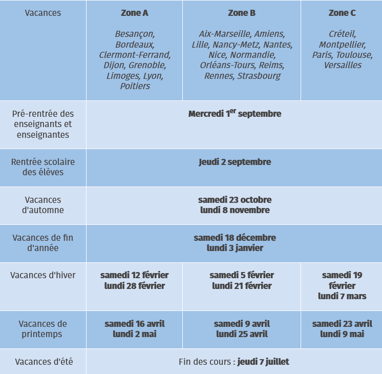 Calendrier Classe Exceptionnelle 2022 Calendrier scolaire 2021 2022   SNUipp FSU de l'Ain